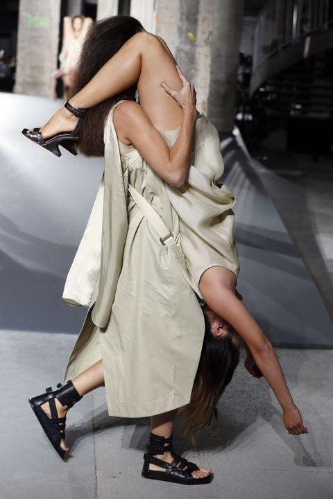 Footwear, Human leg, Shoulder, Shoe, Hand, Joint, Style, Sandal, Dress, Street fashion,
