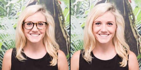 here's what 10 people look like with and without their