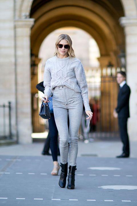 Clothing, Eyewear, Leg, Sleeve, Human body, Trousers, Sunglasses, Standing, Textile, Joint,