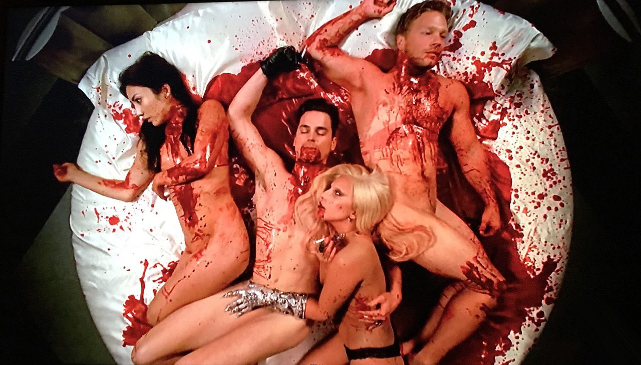 """All American Orgy that sexy vampire """"ahs: hotel"""" orgy scene was actually super"""