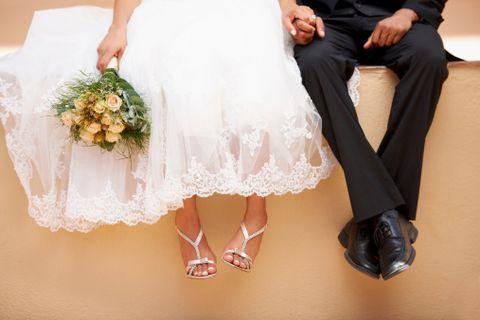 Shoe, Bouquet, Pink, Petal, Fashion, Peach, Cut flowers, Flower Arranging, Wedding dress, Floral design,