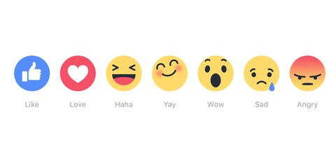 Facebook emojis reactions