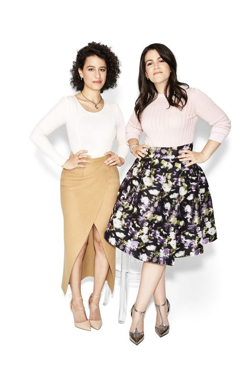 "<p><strong>Ilana Glazer</strong></p><p>Actor, Cocreator, <em>Broad City </em></p><p>""Comedy is important philosophically in our culture. Today, people aren't turning to dramas for messaging. Comedy points to truth.""</p><p><strong>Abbi Jacobson</strong></p><p>Actor, Cocreator, <em>Broad City </em><em></em></p><p>""It's a great time to be a woman in comedy."" </p><p><strong>ON ILANA: TOP,</strong><em> <a href=""http://www.revolveclothing.com/dra-cosmos-dress-in-ivory/dp/DRA-WD34/?d=F&currency=USD&source=google&mkwid={ifsearch:s}{ifcontent:c}_dc