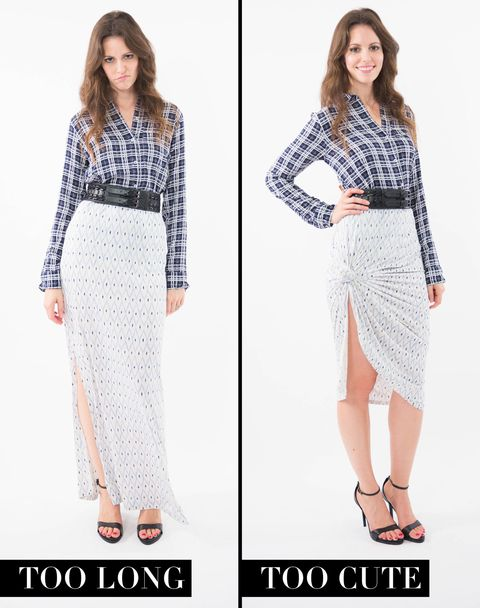 915076e26 Blue and White Plaid Shirt, SOFT JOIE (Available at Bloomingdale's), $138;  Blue and White Jersey Maxi Skirt, JOIE (Available at Bloomingdale's), $65;  ...