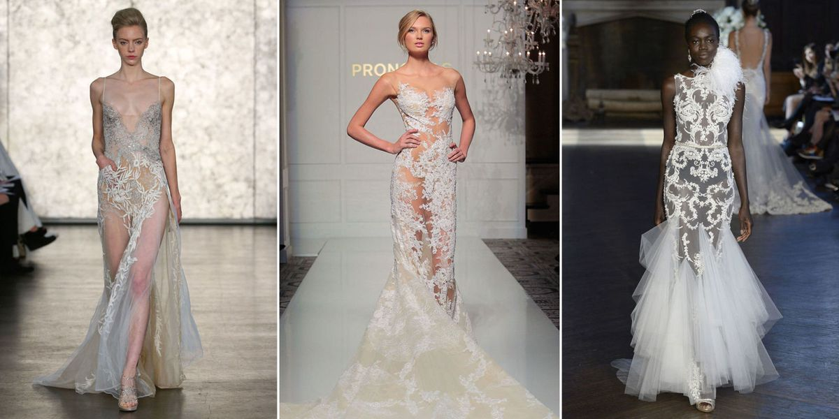18 naked wedding dress gowns from fall 2016 bridal fashion week