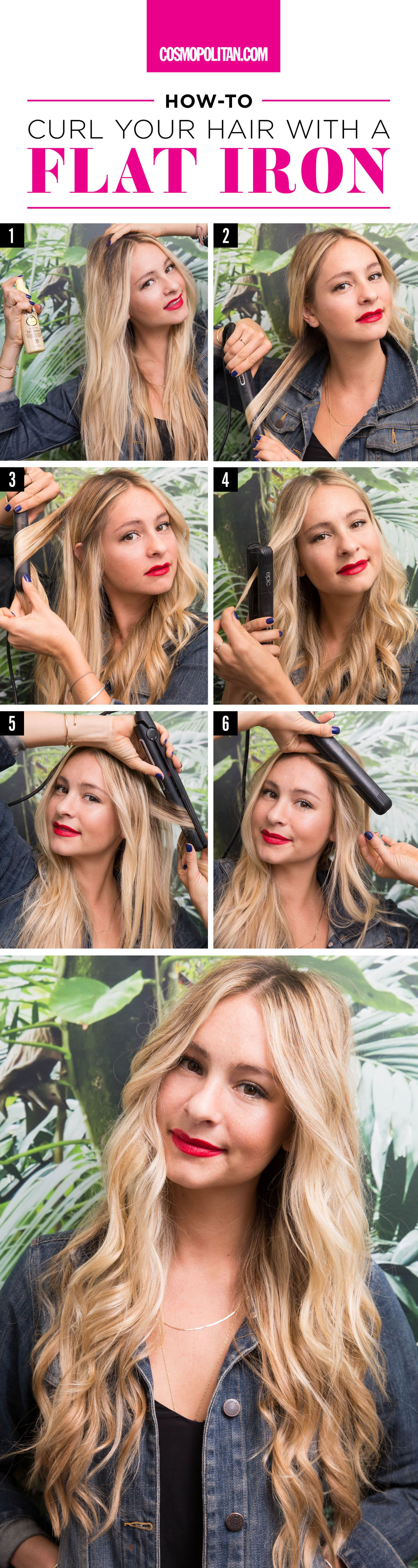 How to curl hair with flat iron video