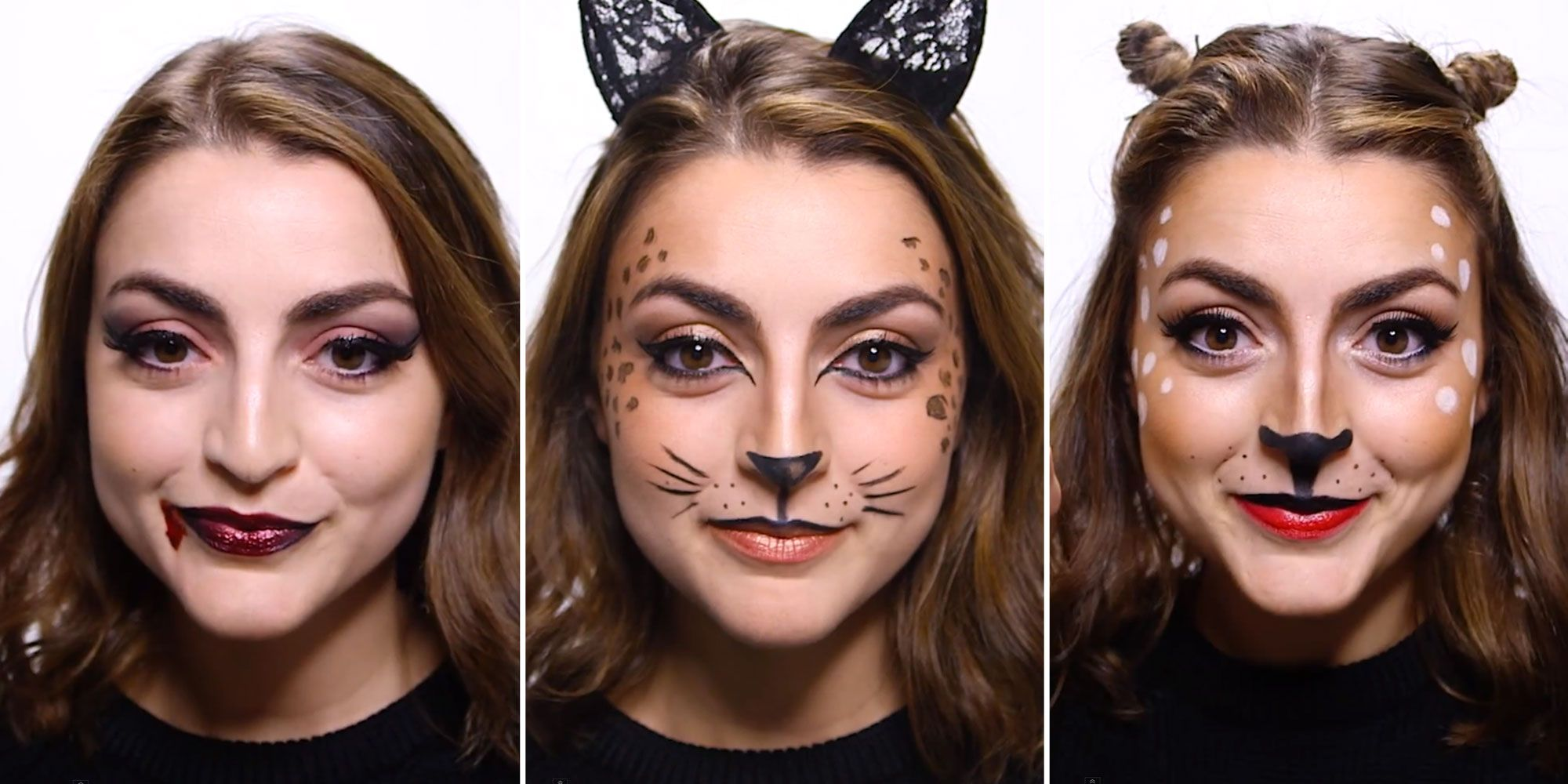 3 Easy Halloween Makeup Videos - Makeup Ideas for Last-Minute ...