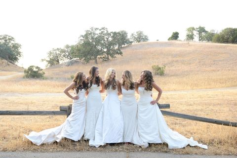 5 Sisters Wore Their Wedding Gowns Together for the Sweetest Photo Shoot Ever