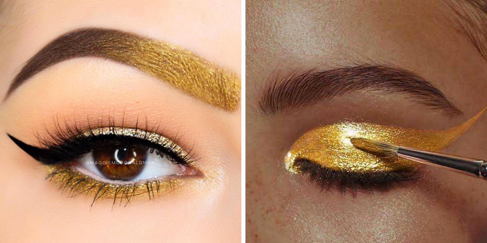 Eye Makeup Tips How To Wear Gold Eye Shadow