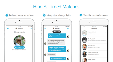 Hinge Now Requires You to Message Your Match Within 24 Hours