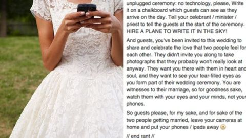 This One Photo Shows Why You Shouldn't Allow Phones at Your Wedding