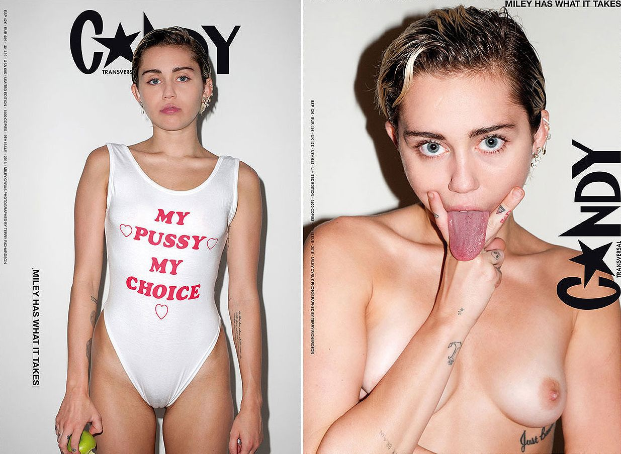 Miley s almost nude pictures with her dad