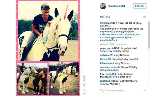 Real-Life Fairy Princess Miranda Lambert Rode a Unicorn