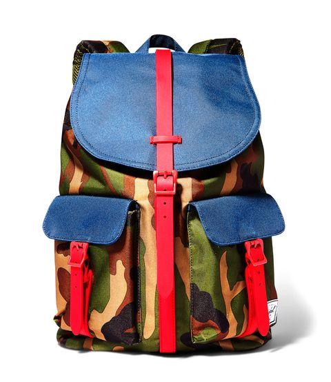 """<p><em>Herschel Supply Company</em>, $69.99, <a href=""""https://www.nordstromrack.com/shop/product/1469446/herschel-supply-co-heritage-suede-trim-backpack?color=NAVY-TOBACCO+H#"""" target=""""_blank"""">Norstrom</a></p>"""
