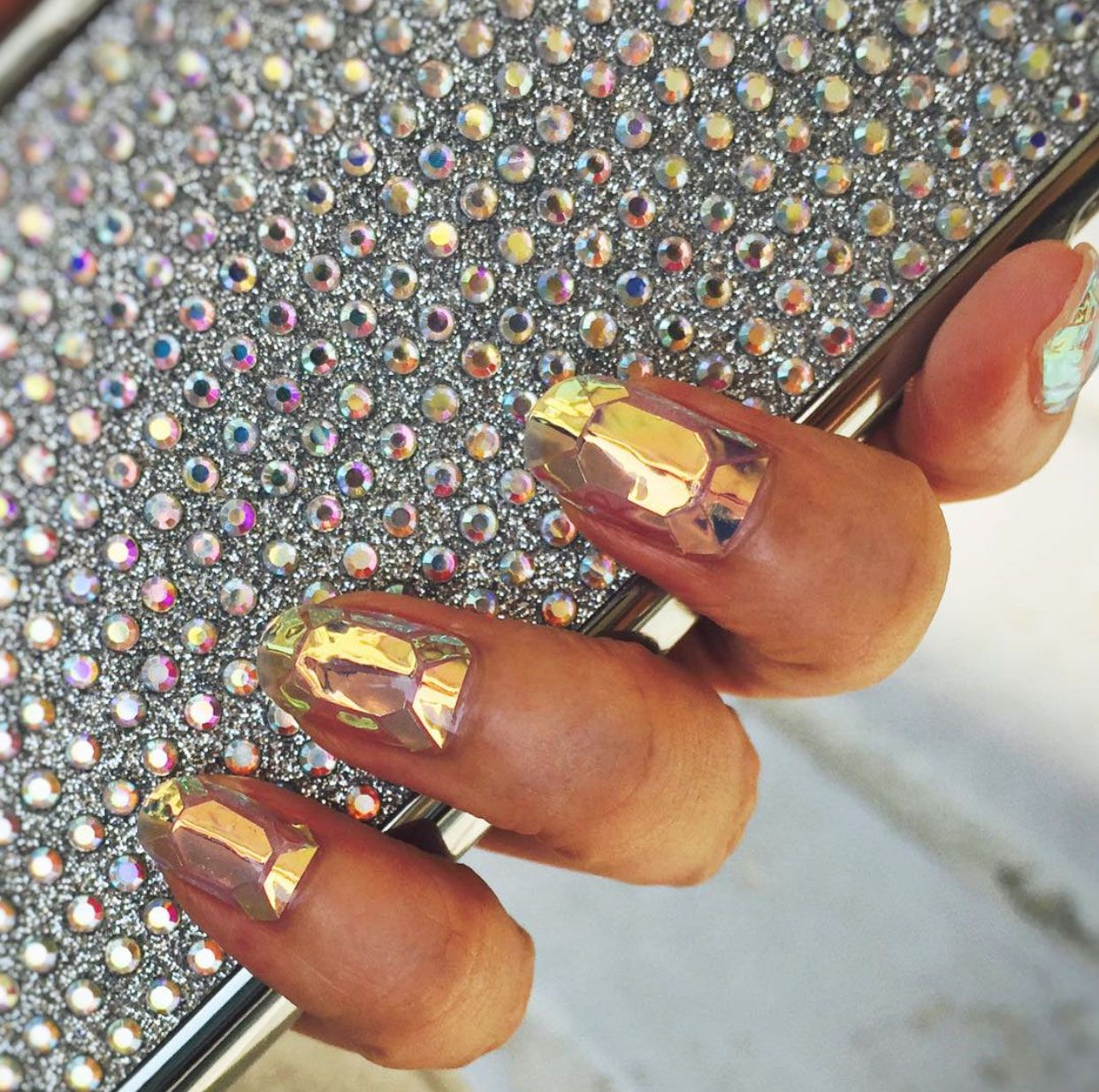 Shattered glass nail art how to korean nail art trends prinsesfo Choice Image