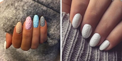 7 holiday nail art ideas for 2017 diy christmas nail art tutorials cozy knitted nail art allows your nails to bundle up in a sweater too solutioingenieria Image collections