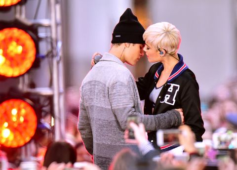Justin Bieber and Halsey Got Really Close in Their First Performance