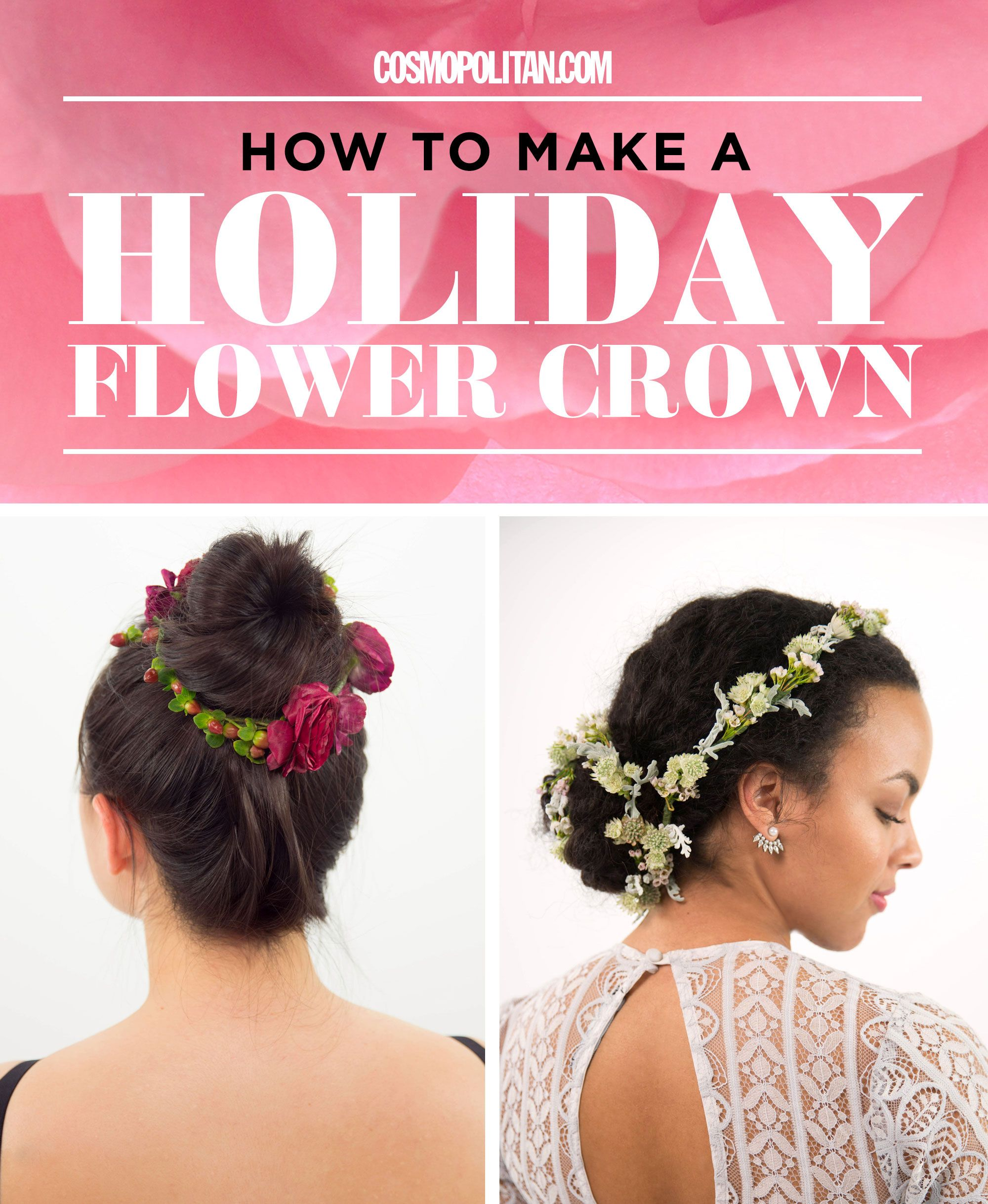 How to make a winter flower crown best flower crown ideas for the how to make a winter flower crown best flower crown ideas for the holidays izmirmasajfo