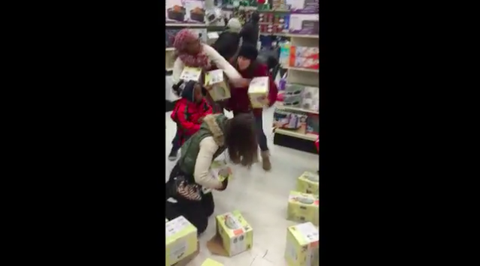 The First Black Friday Brawl Is Here and It Involves a Grown Woman Stealing From a Child