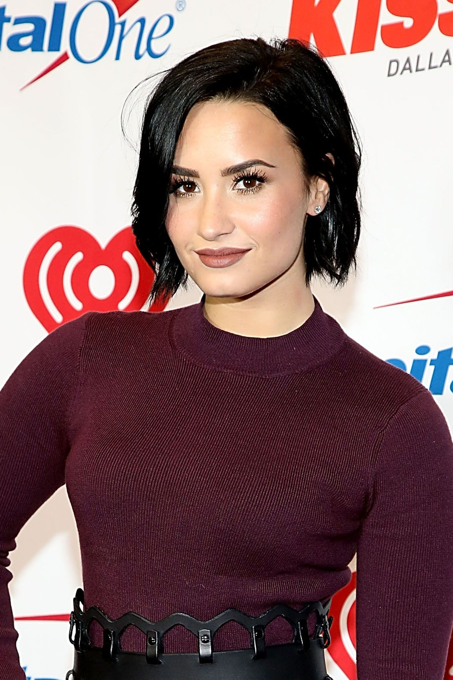 <p><strong>Inspired by: </strong>Demi Lovato</p><p><strong>Get the Look: </strong>The punk-ish, greige lip is having a moment, and it's super fun with an edgy NYE outfit. To nail the clean, matte finish, start by using a lip pencil to build a color base, then top it off with a liquid lipstick.</p>