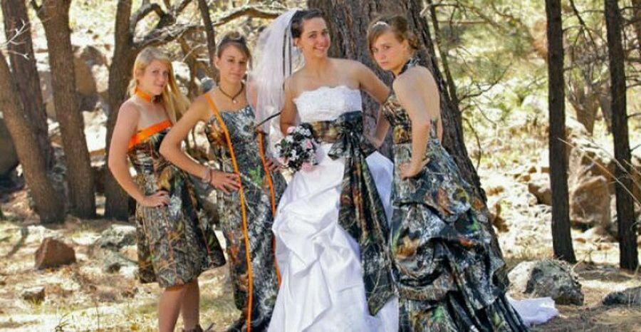 Camo Wedding Dresses Trend