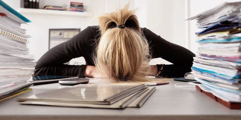 Table, Blond, Desk, Long hair, Office supplies, Stationery, Writing implement, Paper product, Publication, Paper,