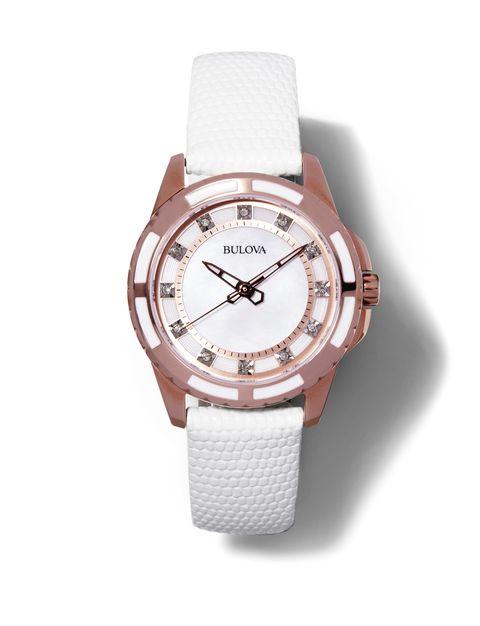 "<p><em>Bulova, $299, <a href=""http://www.zales.com/watches/bulova/watches-bulova/family.jsp?categoryId=2071113"" target=""_blank"">Zales</a></em></p>"
