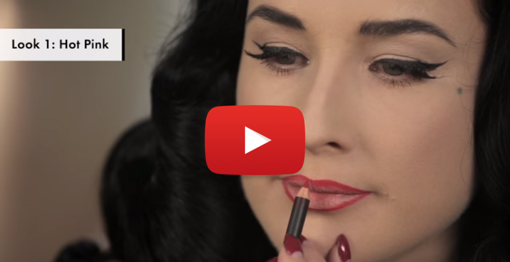 Watching Dita Von Teese Teach You The Perfect Way To Apply Sexy Lip