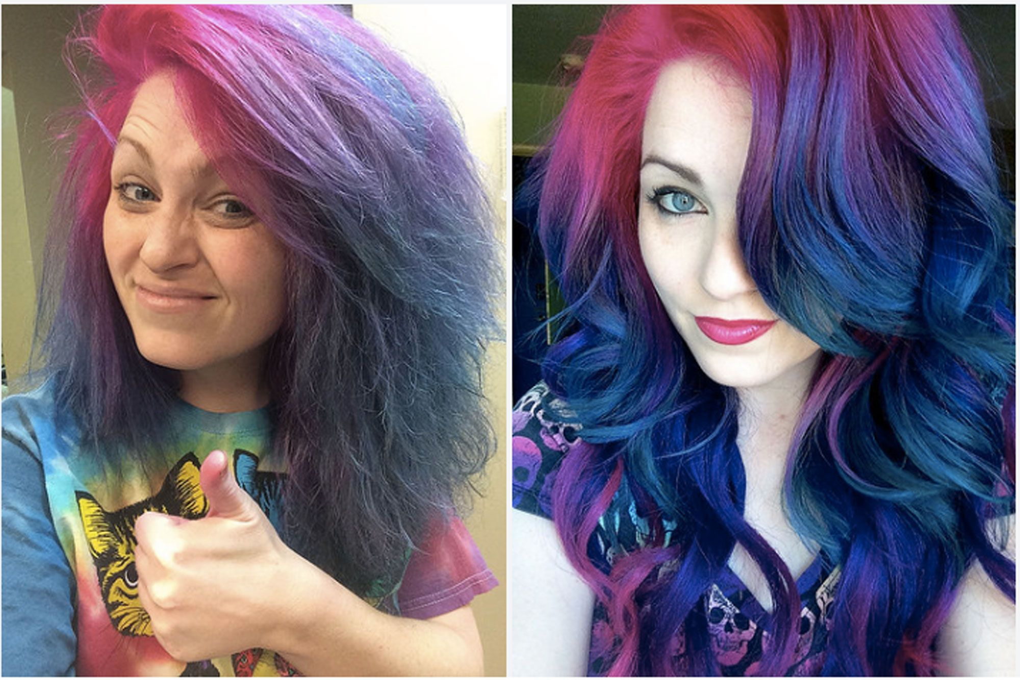 What These 2 Rainbow Hair Selfies Tell You About Social Media