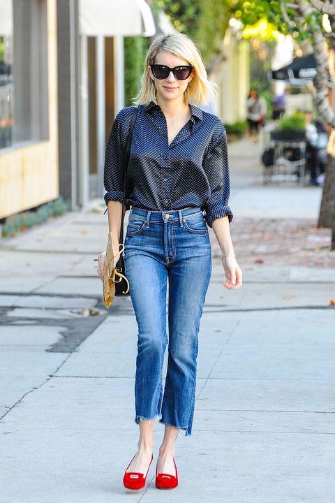Clothing, Eyewear, Glasses, Vision care, Brown, Sunglasses, Trousers, Denim, Shoulder, Jeans,