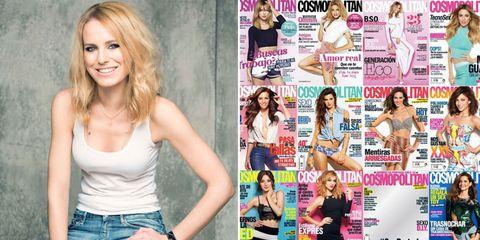 Arm, Mouth, Human body, Denim, Jeans, Pink, Style, Sleeveless shirt, Magenta, Beauty,