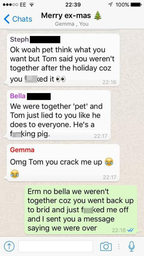 Dude Group Texts All of the Ex-Girlfriends He Cheated On