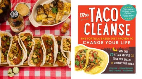 Food, Cuisine, Korean taco, Dish, Taco, Recipe, Ingredient, Corn tortilla, Fast food, Meal,