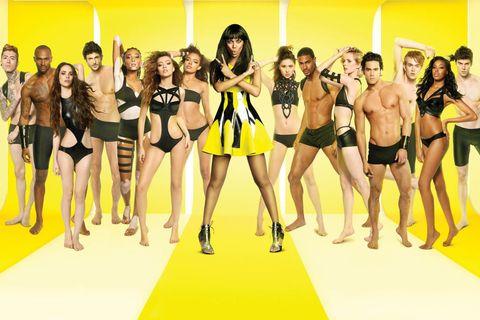 Leg, Yellow, Human leg, Social group, Thigh, Knee, Fashion, Youth, Waist, Fashion model,