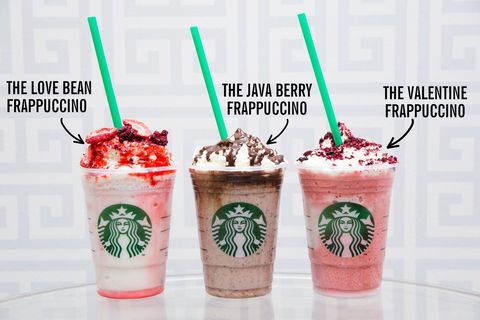 Starbucks Valentine S Day Drinks Pink Starbucks Drinks