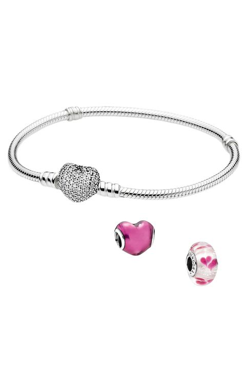 "<p>Give the holiday a sweet little nod with a love-inspired charm bracelet. <em>Pave Heart Bracelet, $80, <em><a href=""https://bs.serving-sys.com/BurstingPipe/adServer.bs?cn=tf&c=20&mc=click&pli=16408199&PluID=0&ord=%n"" target=""_blank"">pandora.net</a></em><a href=""https://bs.serving-sys.com/BurstingPipe/adServer.bs?cn=tf&c=20&mc=click&pli=16408199&PluID=0&ord=%n""></a>; In My Heart Enamel Charm, $40, <a href=""https://bs.serving-sys.com/BurstingPipe/adServer.bs?cn=tf&c=20&mc=click&pli=16408199&PluID=0&ord=%n"" target=""_blank"">pandora.net</a>; Wild Hearts Charm, $55, <a href=""https://bs.serving-sys.com/BurstingPipe/adServer.bs?cn=tf&c=20&mc=click&pli=16408199&PluID=0&ord=%n"" target=""_blank"">pandora.net</a></em></p>"