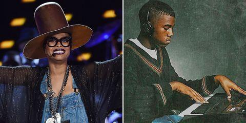 Erykah Badu and Kanye West
