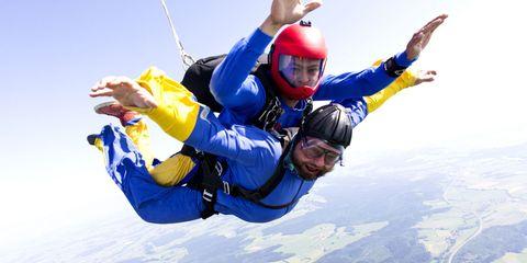 Arm, Fun, Finger, Recreation, Helmet, Parachuting, Personal protective equipment, Leisure, Joint, Extreme sport,