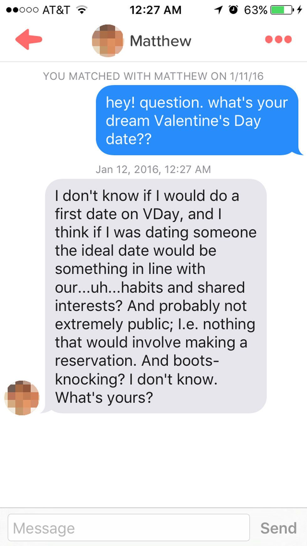 Dating new guy valentines day