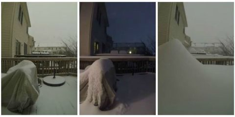 Watch Snow Bury the Camera in This 90-Second Time-Lapse