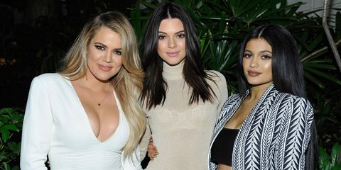 Khloe Kardashian with Kendall and Kylie Jenner