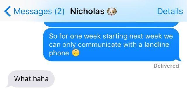 Long distance boyfriend texting less