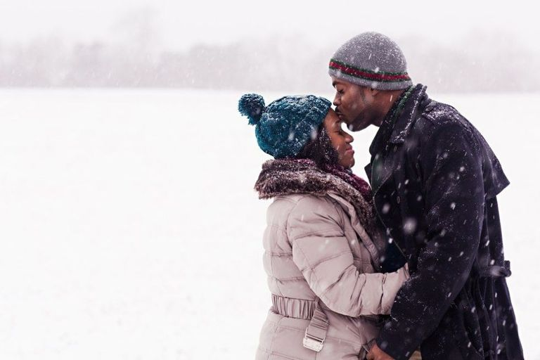 This Couple's Engagement Photos in the Blizzard Are Absolutely Stunning