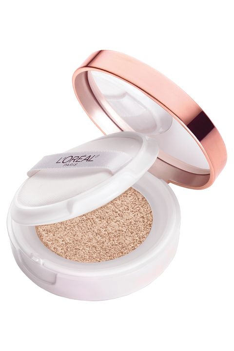 """<p>The soft, dewy finish of this liquid foundation makes you photo-ready — and won't leave you overly made-up at the pool or beach. And its clever compact houses a mirror and puff applicator to boot. Tap — don't swipe — the applicator onto your face, so it deposits a light, even layer. If you want more coverage, dab on a second layer. Take it with you for touch-ups, so you can go #NoFilter. </p><p><em><a href=""""http://bit.ly/1oBnfkm"""" target=""""_blank"""">True Match Lumi Cushion</a>,  </em><em>L'ORÉAL PARIS, </em><em>$17</em><br></p>"""