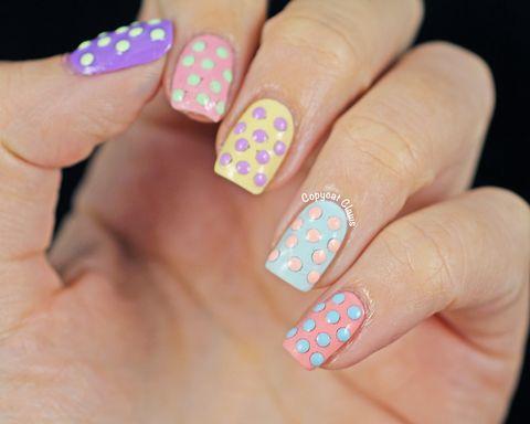 Blue, Finger, Skin, Nail, Nail polish, Nail care, Manicure, Pink, Teal, Magenta,