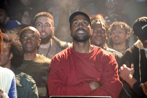 8c5500dbd Getty Images. Walking into Kanye West s Yeezy Season 3 ...