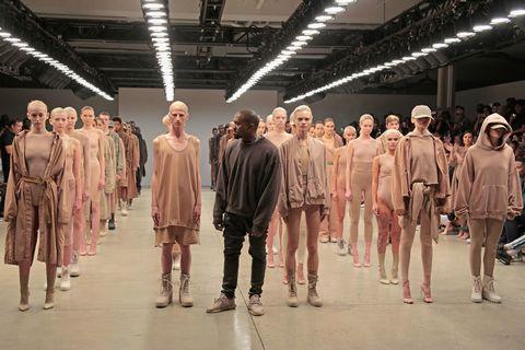 Pink, Fashion, Costume design, Fashion design, Fashion model, Walking, One-piece garment, Collection,