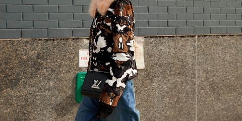 Denim, Textile, Jeans, Street fashion, Natural material, Fur, Waist, Cobblestone, Brick, Pocket,