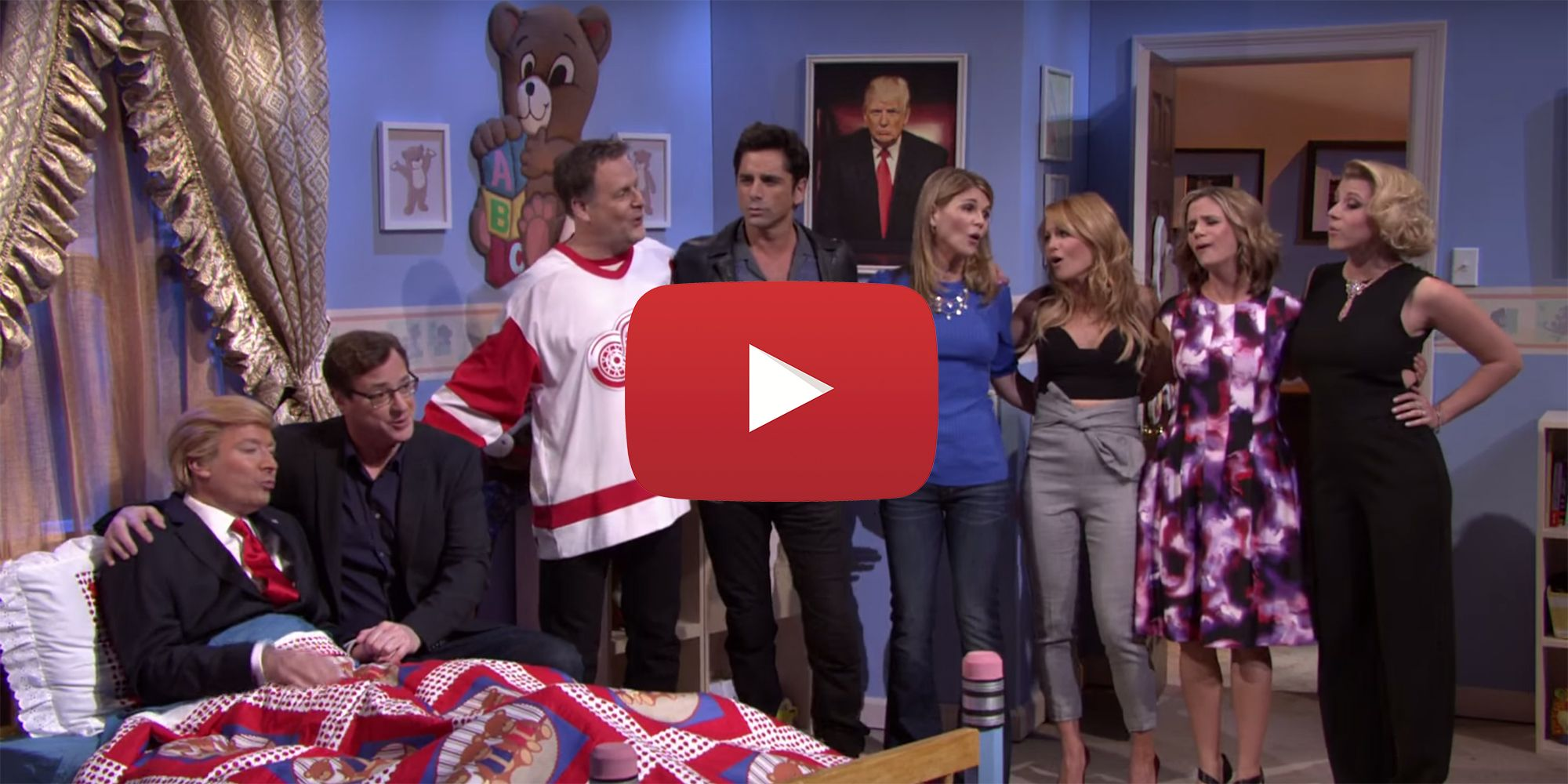Full House Cast Reunites on Tonight Show with Donald Trump as Michelle