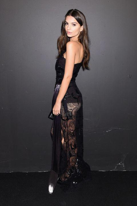 Emily Ratajkowski Basically Looks Pantsless at New York Fashion Week